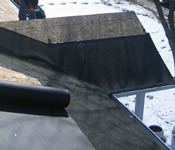 installing ice barrier on a roof