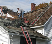 tearing off an old roof